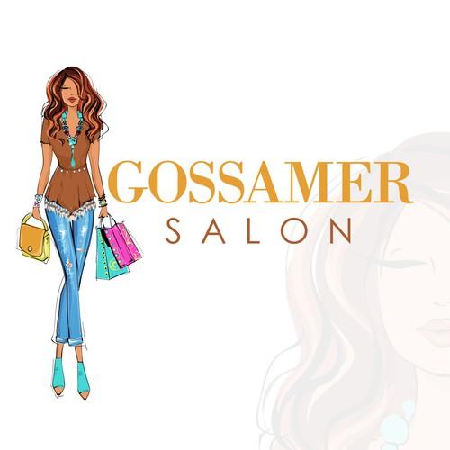 Fashion woman illustration for Gossamer Salon