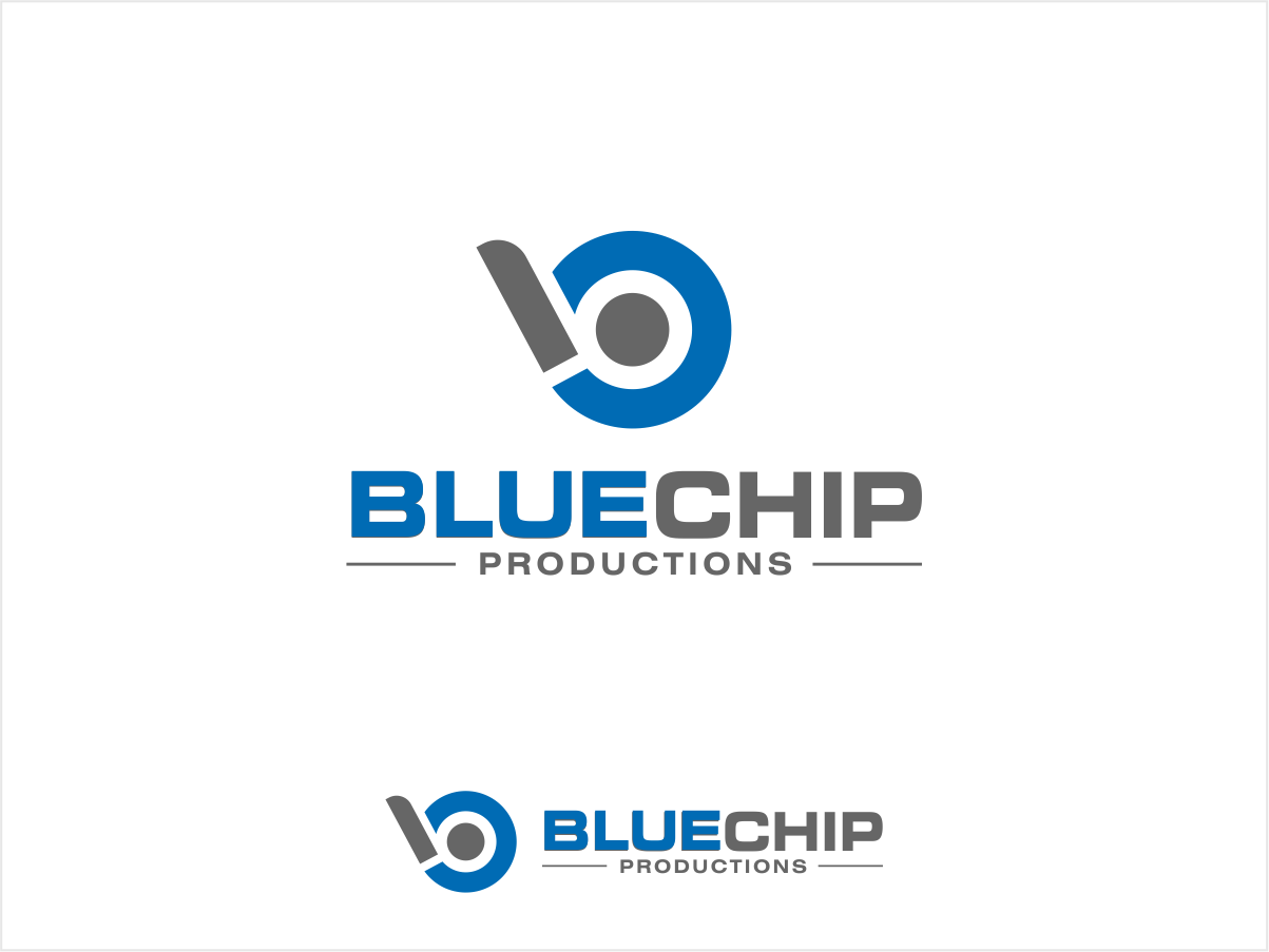 logo and business card for Blue Chip Productions