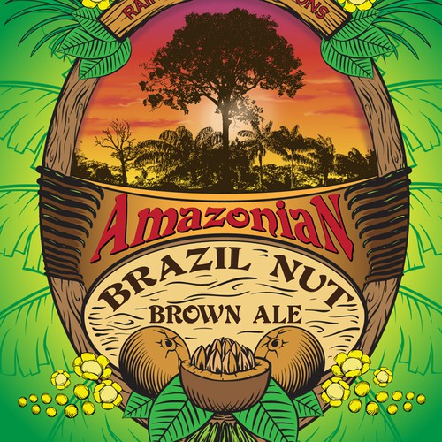 Beer lable design for Colonel Kurt's Amazonian Brazil Nut Beer