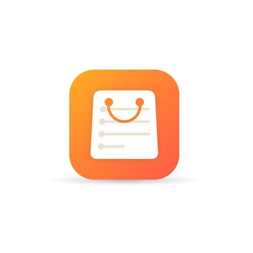 Shop-list app icon concept