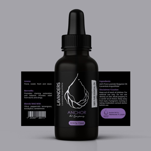 Product Label to compliment our great new Logo