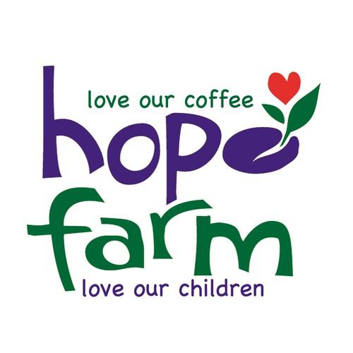 Winning logo for Hope Farm