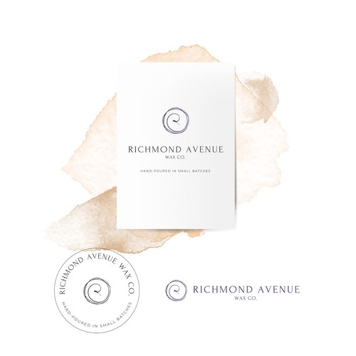 Clean luxurious logo for candle company