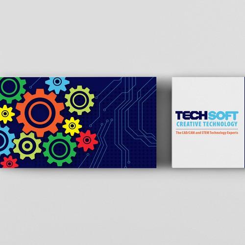 """Techsoft的名片设计""""title="""