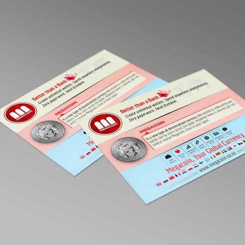 Postcard Design for Megacoin Global Digital Currency