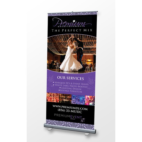 Wedding & Event Service: Design Retractable Banner for Trade Shows
