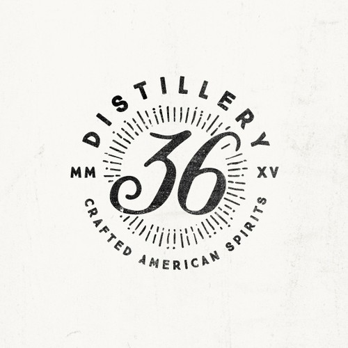 Vintage logo concept for craft distillery
