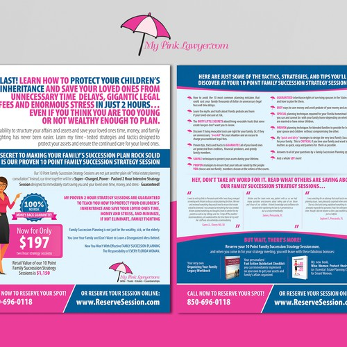 My Pink Lawyer Flyer Design
