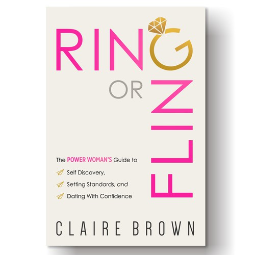 Book front cover for women's dating guide.