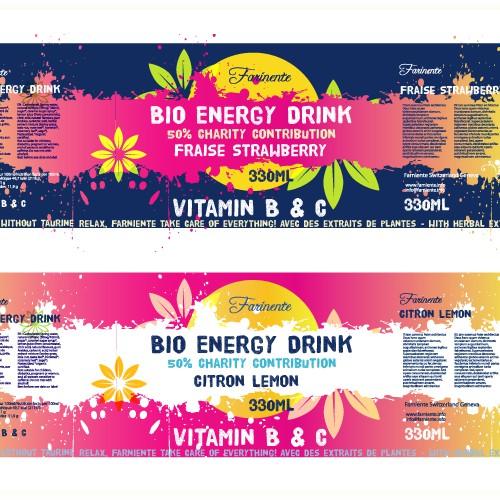 有机能量饮料标签比赛