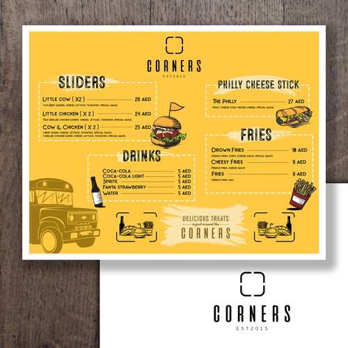 Menu design for a food truck