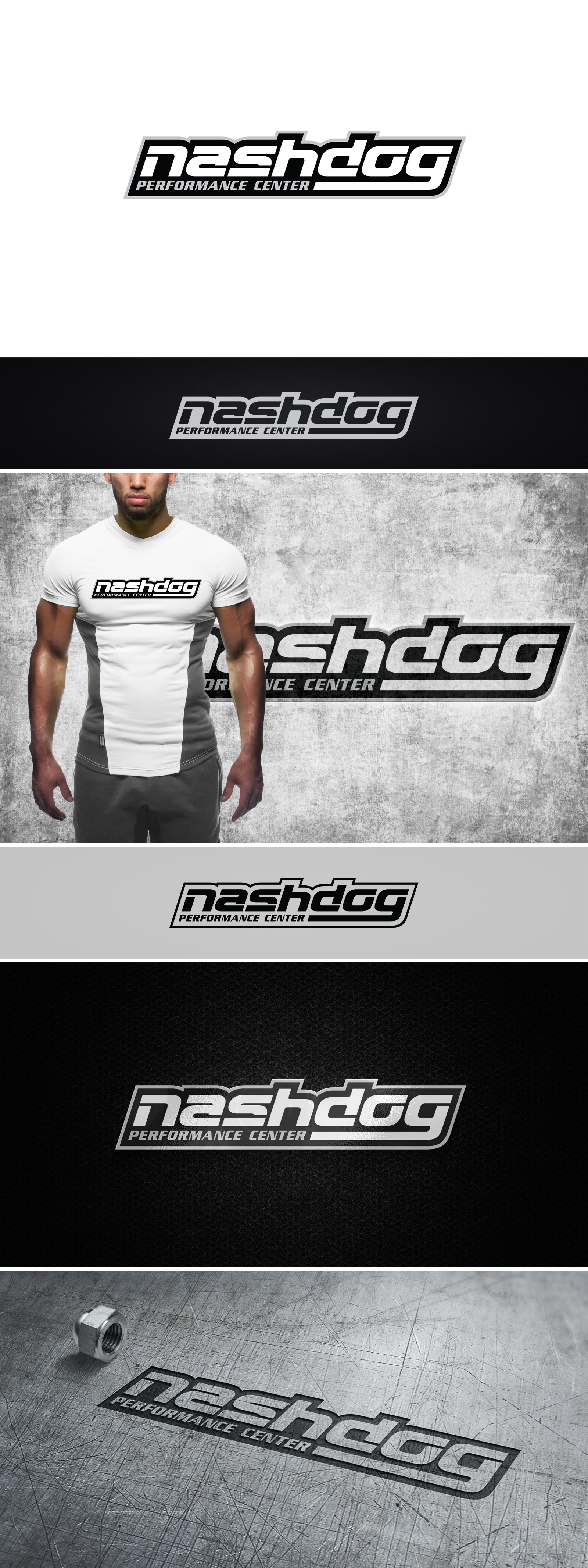 Create a fresh logo for Nashdog Performance Center!