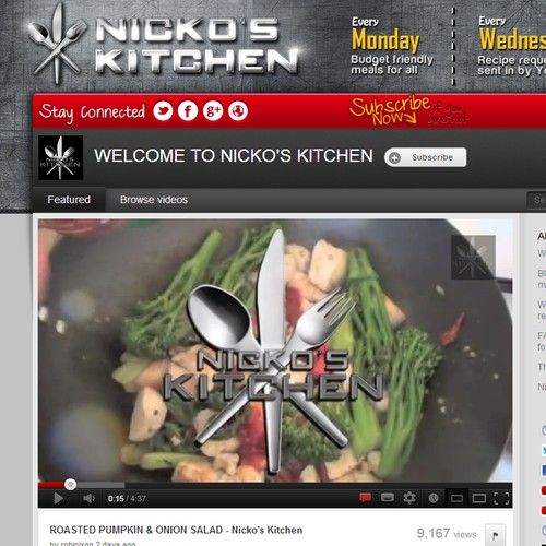Youtube Header for Nicko's Kitchen