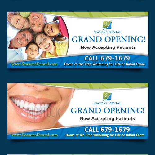 Help Seasons Dental Outdoor Banner Design