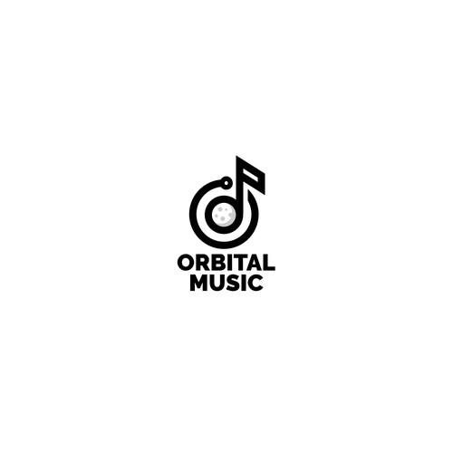 Bold logo for music app