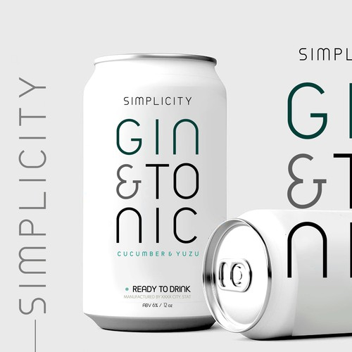 gin tonic drink design