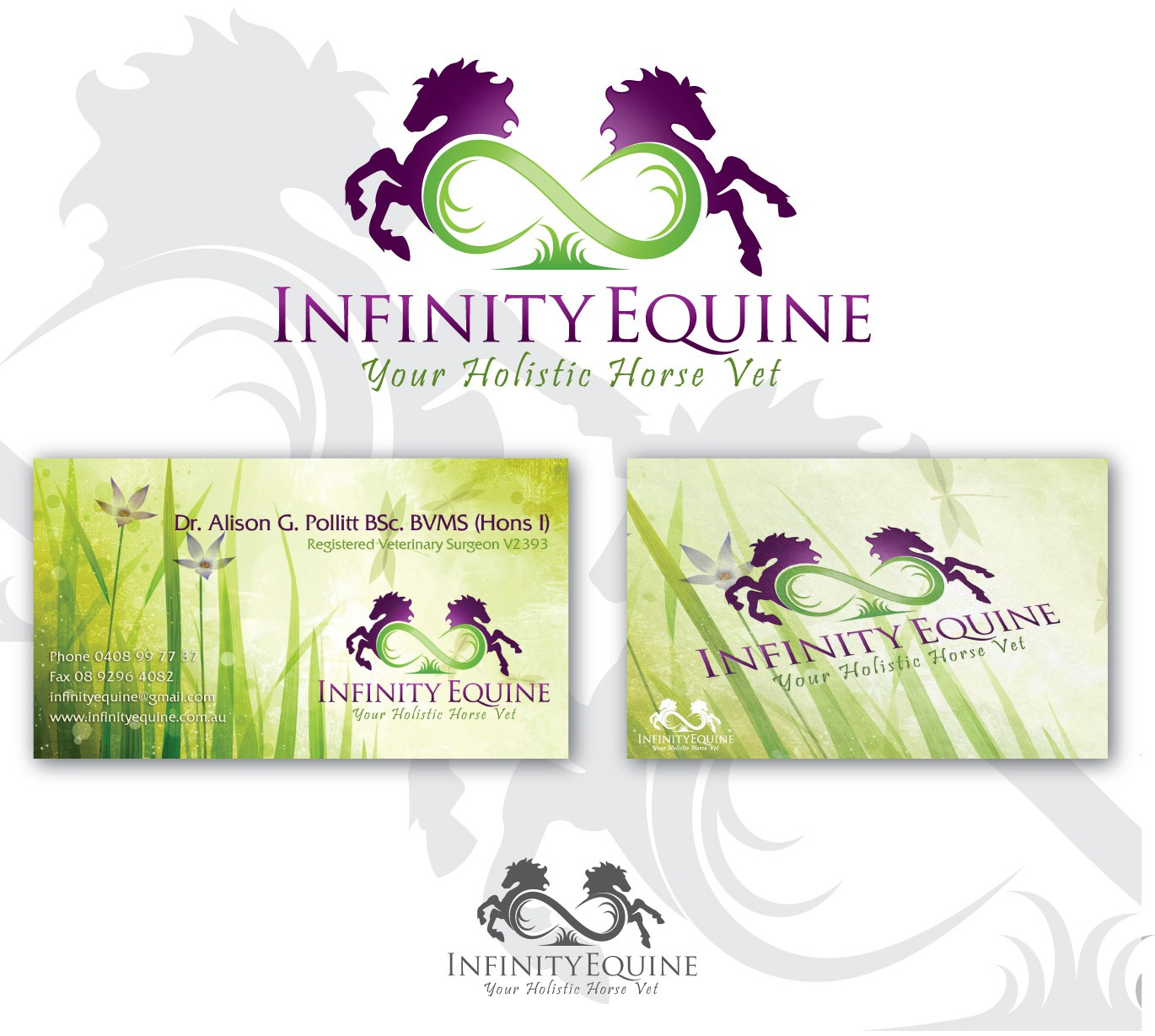 Create the next logo for Infinity Equine