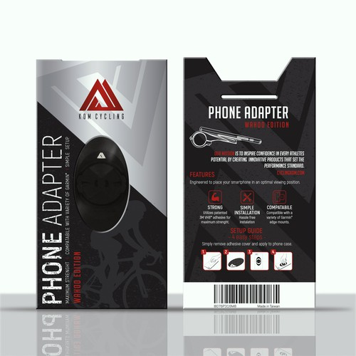 Packaging design for Phone Adapter for Bicycles