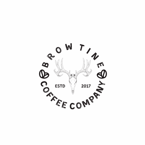 Brow Tine Coffee Company  Slogan to incorporate in the logo