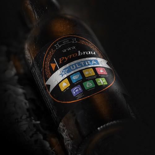 Pyrobrau beer label entry