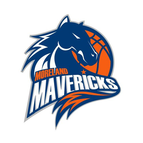 Basketball Club Logo - Moreland Mavericks