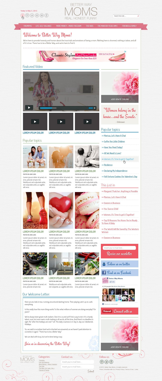 Better Way Moms needs a new website design