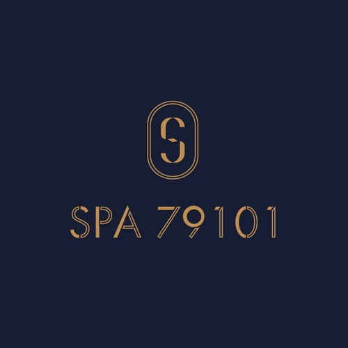 Luxurious monogram and custom lettering for boutique spa