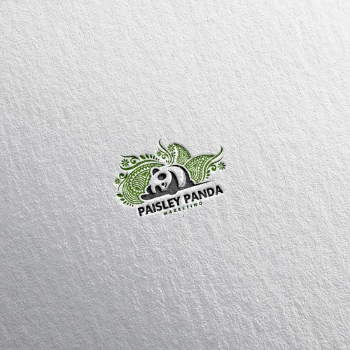 Panda logo for marketing company