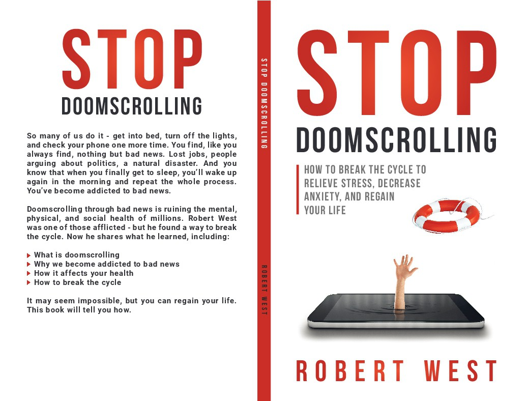 Stop Doomscrolling attention grabbing book cover