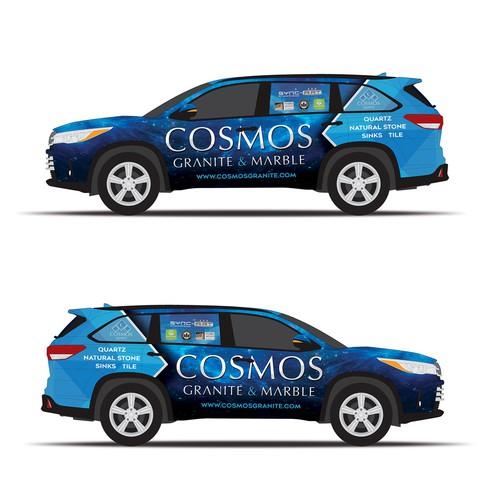 SUV Branding for a granite shop