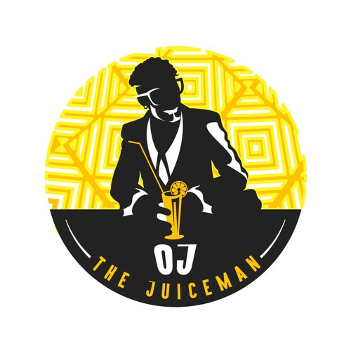 Logo concept for OJ The Juiceman