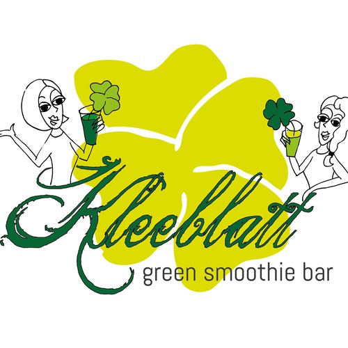 Two girls need playful, feminine Logo for happy and charmingGreen-Smoothie-Bar!