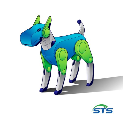 Dog Robot Mascot Concept