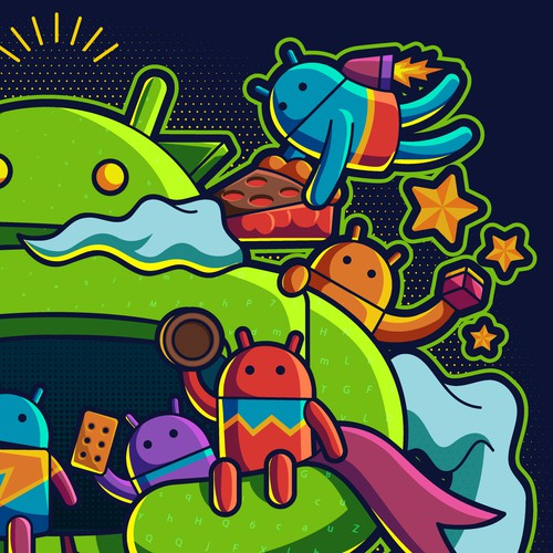 T-shirt design for Android Native 2018