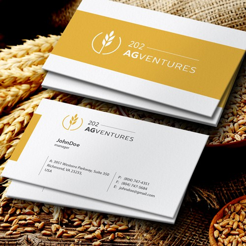 Agriculture company logo and business card