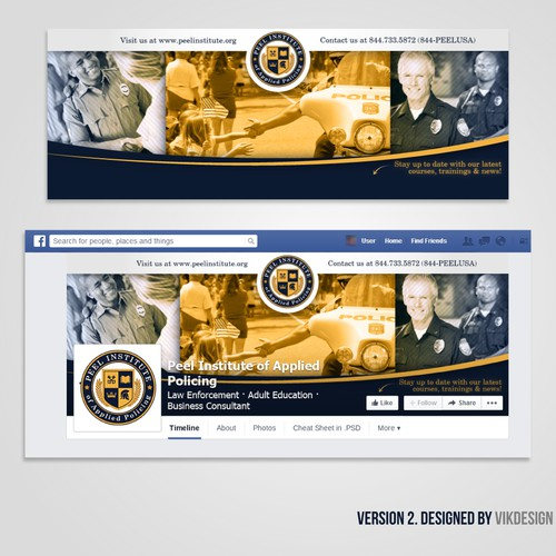 Facebook Cover for Peel Institute of Applied Policing