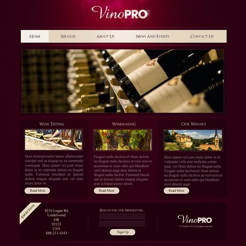 WINE SITE!! VinoPRO website design
