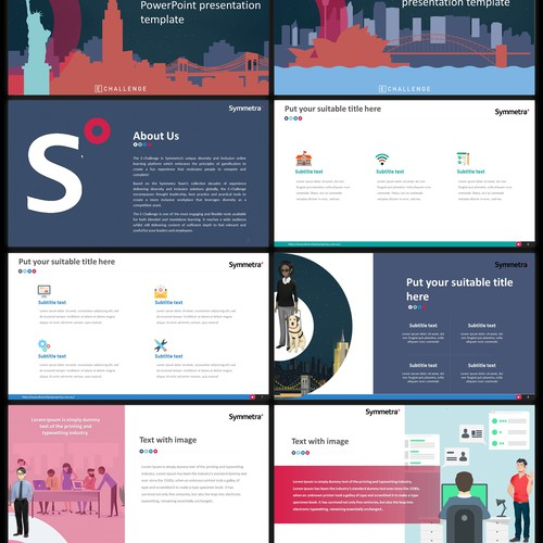 Fun Powerpoint Template for Gamified Learning Application