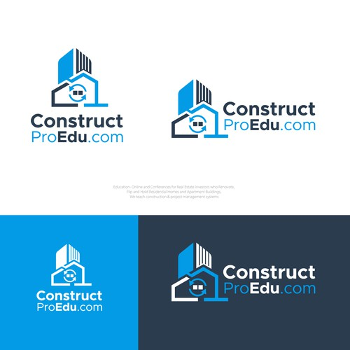 Simple clean and professional logo design for Construct Pro Edu .com