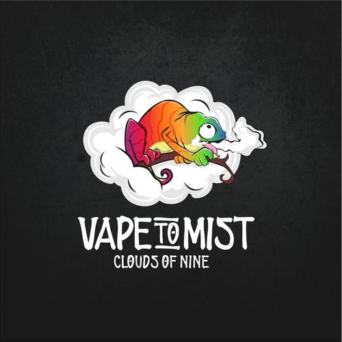 Playful logo for vape product