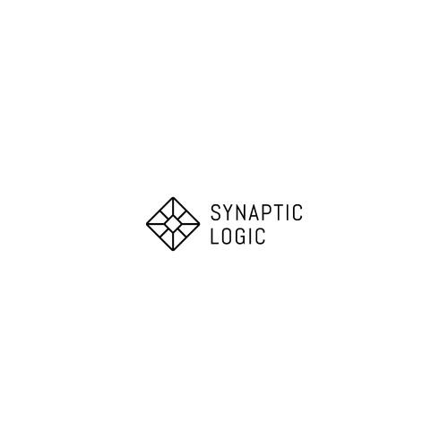 Minimalistic logo concept for AI company