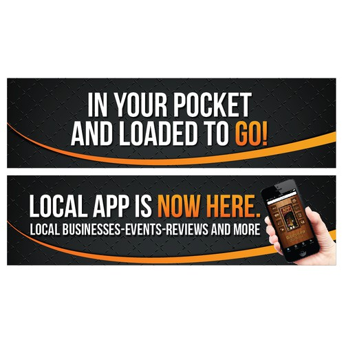 Design a digital outdoor billboard ad for Local App