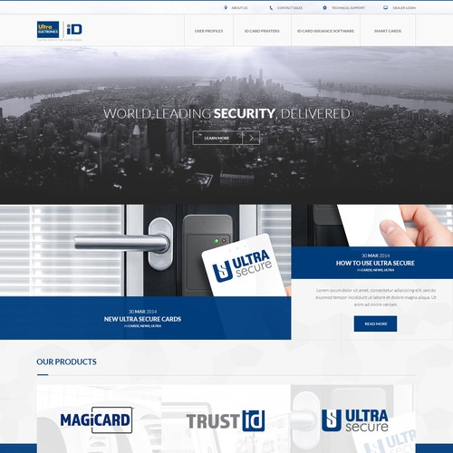 Create the next generation website for an identification security manufacturer