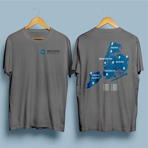 T-shirt design concept for a construction company