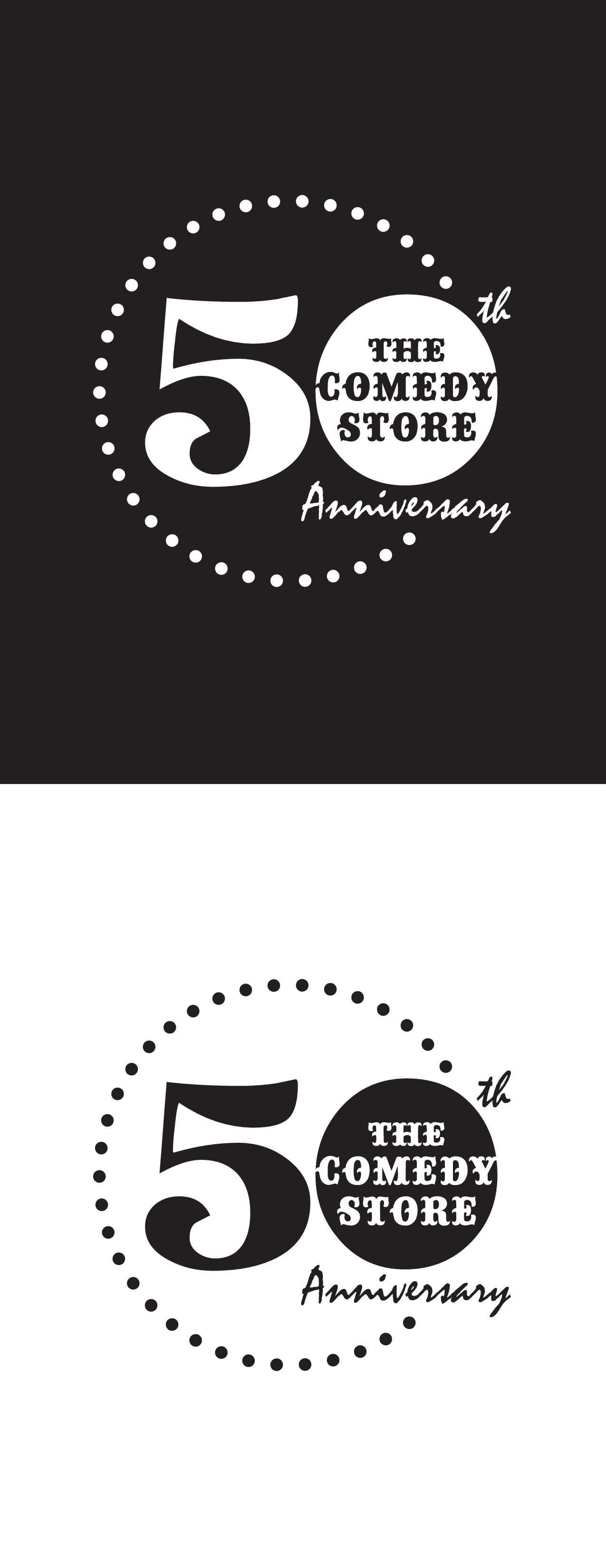 Design the 50th Anniversary image for the best comedy club in the country