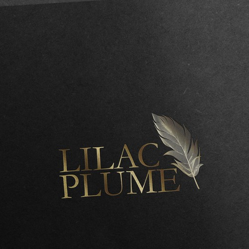 Create a luxurious feather logo for Lilac Plume skin care company