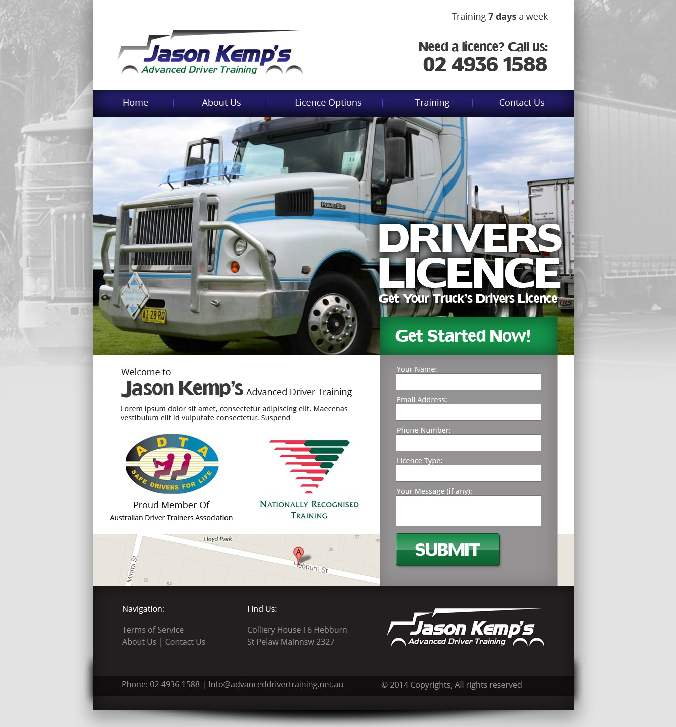 create the new website for Jason Kemp's Advanced Driver Training