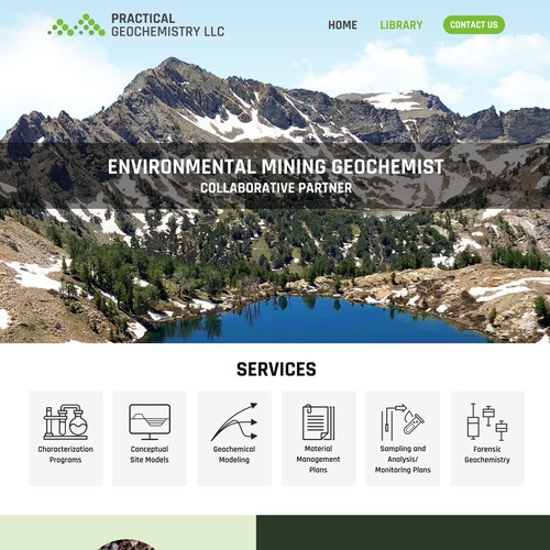 Professional home page design for Practical Geochemistry