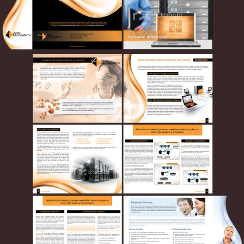 Brochure design for Apex Microsystems