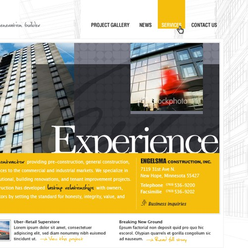 Engelsma Construction: Website